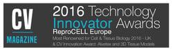 CV Magazine, Tech Innovator Awards 2016